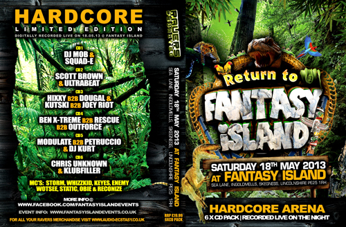 Fantasy Island   18.05.13 - Fantasy Island 13 - RAVERS REUNITED (CD 6 pack)