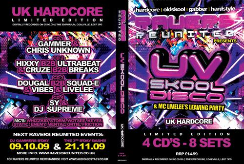 Ravers   05.09.09 - Uv Skool Disco - Hardcore CD4 Pack