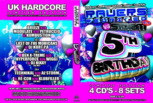 Ravers 22   26.11.11 - 5th Birthday Party - Hardcore CD4 Pack