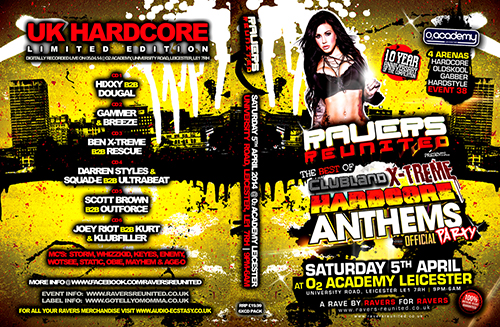Ravers 38   05.04.14 - Clubland X-treme Hardcore Anthems Party CD6 Pack
