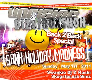Uprising  01.05.11 - SWANKIE DJ & KASHI / SKEGSTER B2B SIMZ - (SQ5)