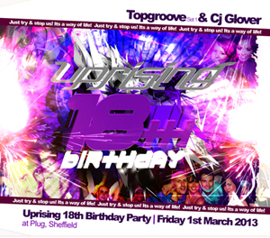 Uprising  01.03.13 - TOPGROOVE / CJ GLOVER  - (SQ5)