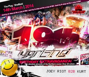 Uprising  14.03.14 - JOEY RIOT B2B KURT / JOEY RIOT B2B KURT - (SQ5)