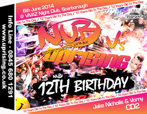 Uprising  06.06.14 - JAKE NICHOLLS / VORNY - (SQ5)