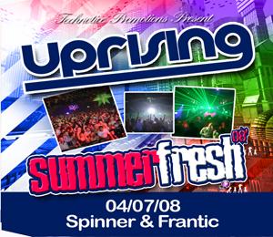 Uprising  04.07.08 - SPINNER / FRANTIC  - (SQ5)
