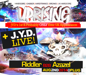 Uprising  02.08.14 - RIDDLER B2B AZAZEL / OUTFORCE - (SQ5)
